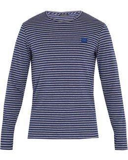 Napa Face Striped Cotton T-shirt