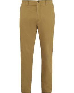 Ayan Satin Cotton-blend Chino Trousers