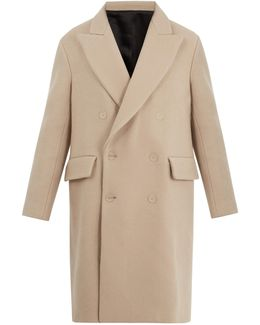 Rover Peak-lapel Double-breasted Wool Overcoat