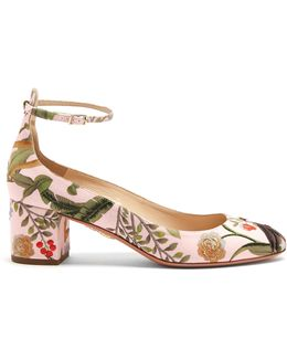 For De Gournay Embroidered Pumps