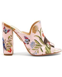 For De Gournay Embroidered Mules
