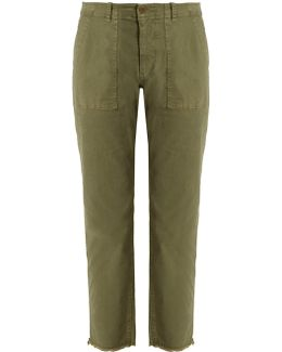 Jenna Mid-rise Cropped Cotton-blend Trousers