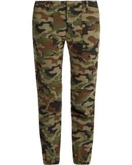 Camouflage-print Cropped Trousers
