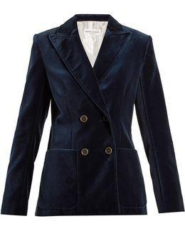 Double-breasted Cotton-velvet Jacket