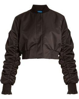 Minnie Gathered-sleeved Cropped Jacket