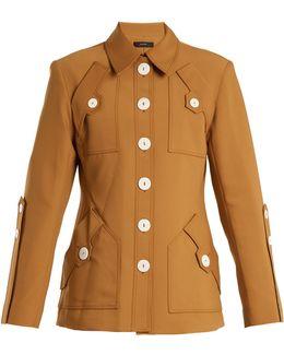 Starlight Point-collar Wool-blend Jacket