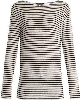 Cotton-jersey Striped Top