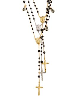 Triple-strand Rosary Necklace