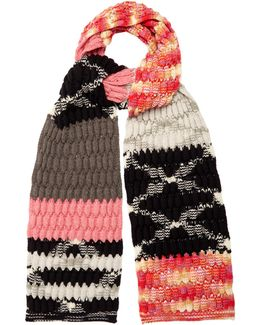 Cable-knit Wool-blend Scarf