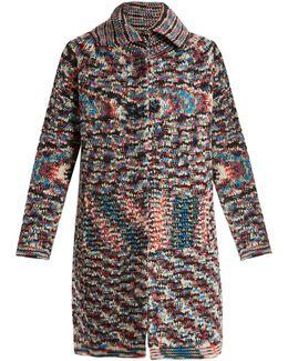 Spread-collar Cashmere Cardigan