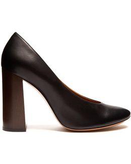 Harper Block-heel Leather Pumps