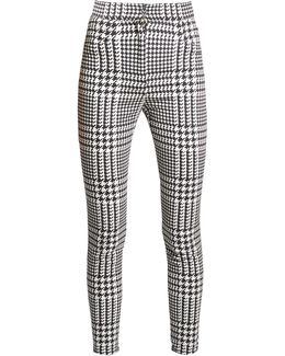 Hound's-tooth Check Skinny-leg Trousers