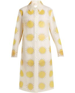 Sun-print Frosted Rubberised Coat