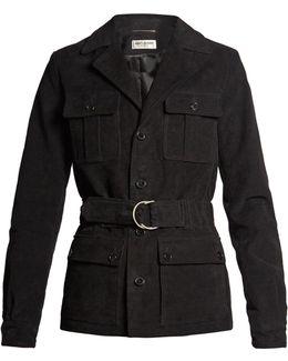 Belted Cotton-blend Gabardine Jacket