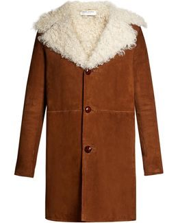 Oversized Notch-lapel Shearling Coat
