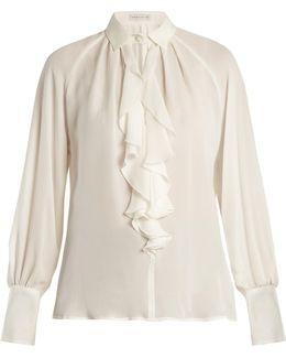 Villandry Ruffled Silk Shirt