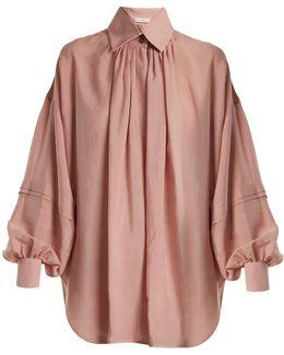 Versaille Oversized Silk-voile Blouse