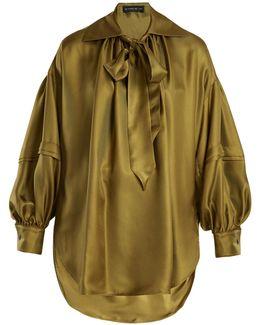 Versailles Tie-neck Silk Blouse
