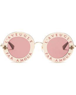 L'aveugle Par Amour Metal Sunglasses