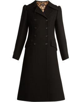 Double-breasted Notch-lapel Wool Coat