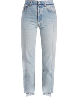 Reworked Straight-leg Cropped Jeans