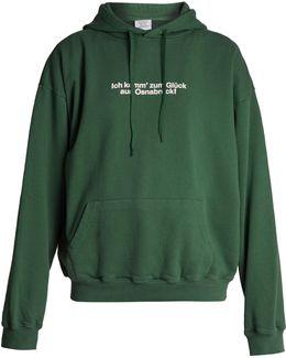 Hooded Cotton-blend Sweatshirt