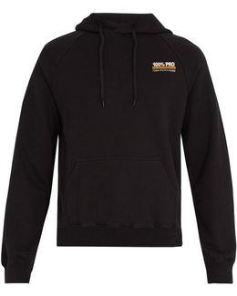 100% Pro Hooded Cotton-blend Sweatshirt