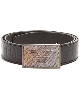 Bouncer Logo-embossed Leather Belt