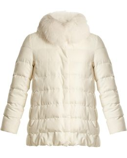 Quilted Silk And Cashmere-blend Down Jacket