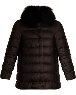 Silk And Cashmere Quilted Down Jacket