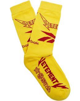 X Reebok Metal Cotton-blend Socks