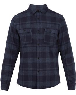 Checked Wool-blend Shirt