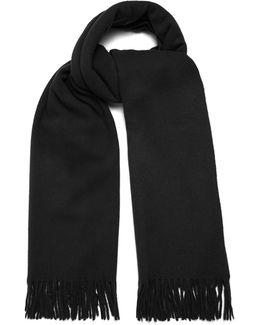 Canada Wool Fringed Scarf