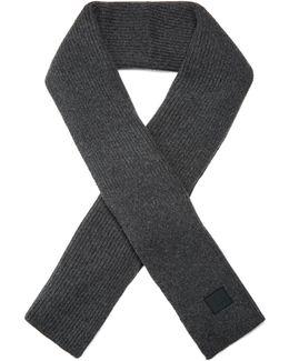 Bansy Ribbed-knit Wool Scarf