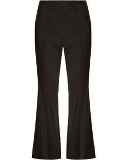 Carel High-rise Flared Cady Trousers