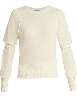 Emerald Tie-sleeve Sweater