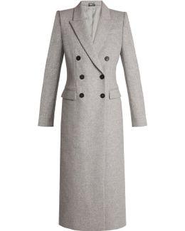Double-breasted Peak-lapel Wool Coat