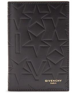 Bi-fold Embossed Leather Card Holder