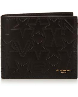Bi-fold Embossed Leather Wallet