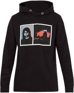Photo-print Cotton Hooded Sweatshirt