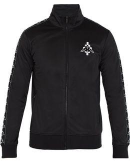 Kappa Contrast-panel Zip-up Sweatshirt