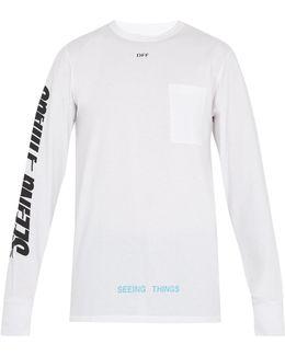 Photocopy-print Cotton-jersey T-shirt