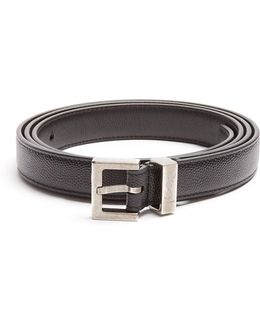Grained-leather Belt