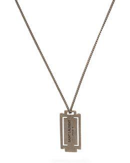 Logo-debossed Pendant Necklace