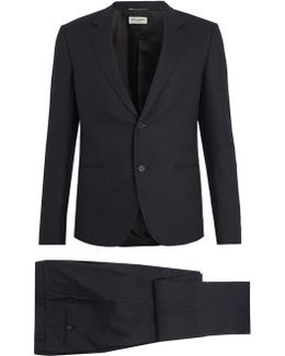 Single-breasted Pinstriped Cotton Suit