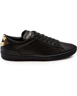 Court Classic Low-top Lips-panel Leather Trainers