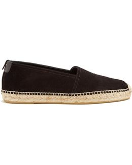 Jimmy Embroidered Suede Espadrilles