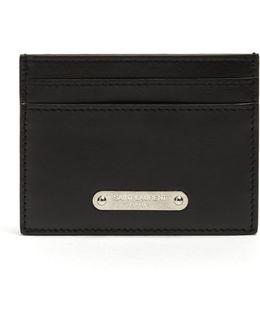 Logo-plaque Leather Cardholder
