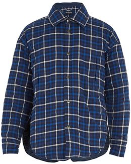 Checked Hooded Cotton-flannel Shirt