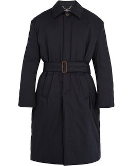 Belted Padded Cotton Overcoat